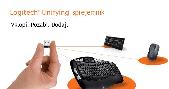 Logitech Wireless Keyboard K350 Wave, Unifying, SLO g  :: Eventus